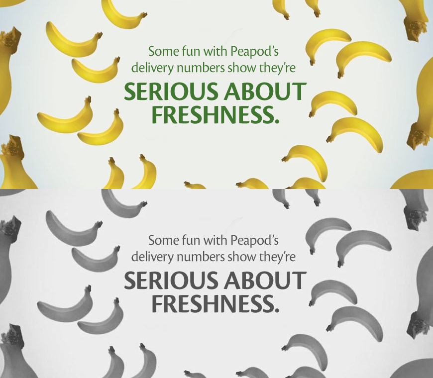 Some fun with Peapod's delivery numbers show they're serious about freshness.
